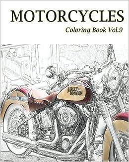 Amazon.com: MOTORCYCLES : Coloring Book Vol.9 (Volume 9 ...