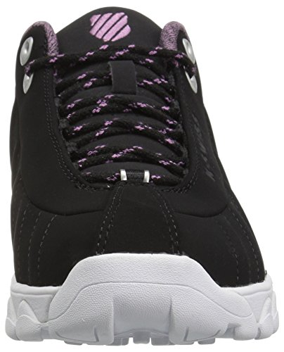 Smoky K Black Swiss Sneaker St329 White Women's Grape CMF vqO7Yfx