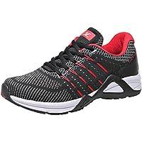 Xiang Guan Men's Mesh Running Shoes (US 12=Foot Longth 290mm, Red)