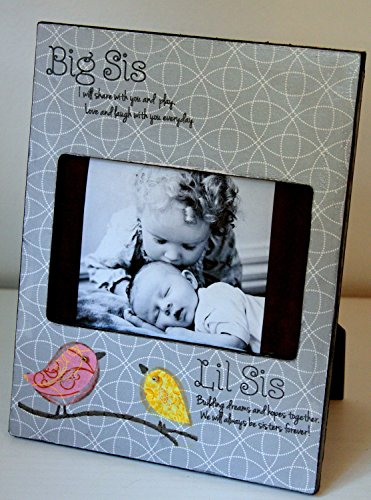 Big Sister Little Sister, Big Sis, Sisters, New baby, Sibling, Picture Frame, Custom, Picture Frame Personalized Sisters Gift Children Sis Custom Fabric