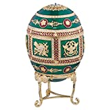 Design Toscano The Emerald Collection Faberge-Style Enameled Redonka Egg