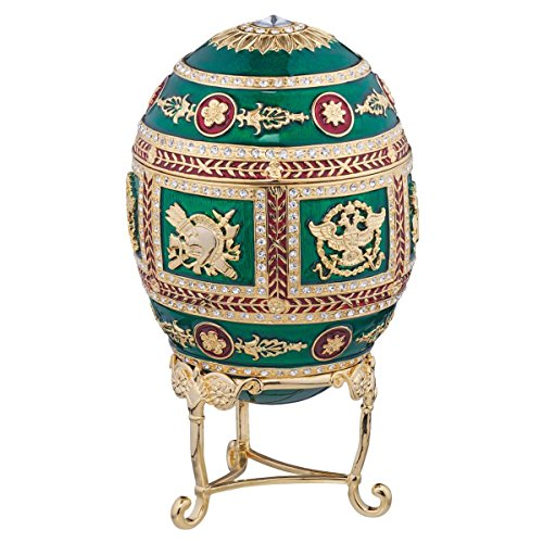 Design Toscano The Emerald Collection Faberge-Style Enameled Redonka Egg by Design Toscano