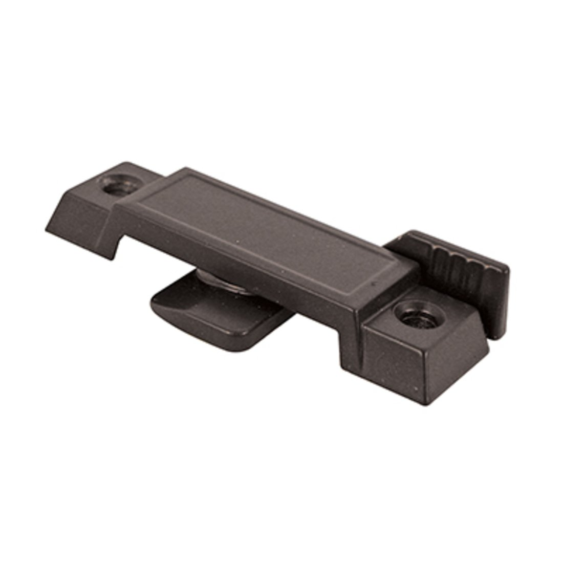 C.R. LAURENCE F2596B CRL Bronze Sliding Window Lock With 2-1/4'' Screw Hole and 3/8'' Latch Projection - Bulk 20 Pack