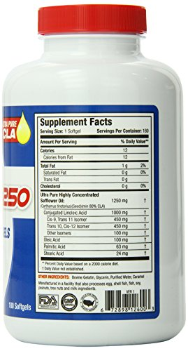 SAN Nutrition Pure CLA 1250 Conjugated Linoleic Acid Supplement, 12 Pack of 180-Count Bottles by SAN (Image #4)
