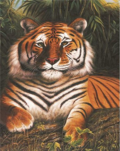 High Quality Polyster Canvas ,the High Resolution Art Decorative Prints On Canvas Of Oil Painting 'a Tiger', 10x13 Inch / 25x32 Cm Is Best For Bathroom Decoration And Home Decor And Gifts