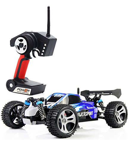 gh Speed 32MPH 4x4 Fast Race Cars 1:18 RC Scale RTR Racing 4WD Electric Power Buggy W/2.4G Radio Remote Control Off Road Truck Powersport Roadster Blue ()