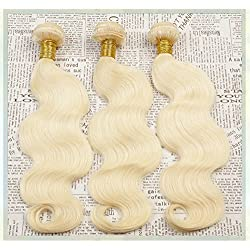 SuperWigy Hair Products 7A Brazilian Virgin Hair Body wave #613 Three bundles/lot 50g/pc Ombre Blonde Hair Extensions 100% Human Hair Weave