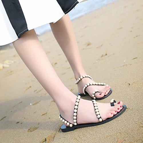 alla confortevoli sandali YMFIE punta antiskid piatto moda da a scarpe Ladies' spiaggia fondo estate a XqWq0vwF