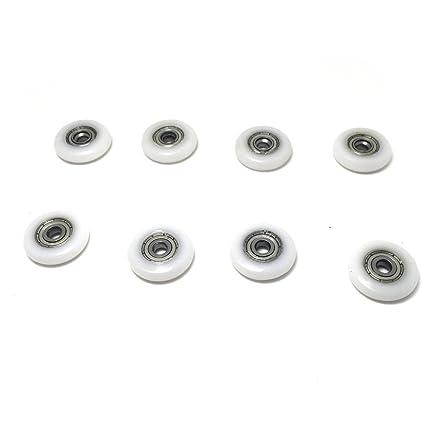 10 rodamientos para mamparas de ducha, con diámetro de 20 mm