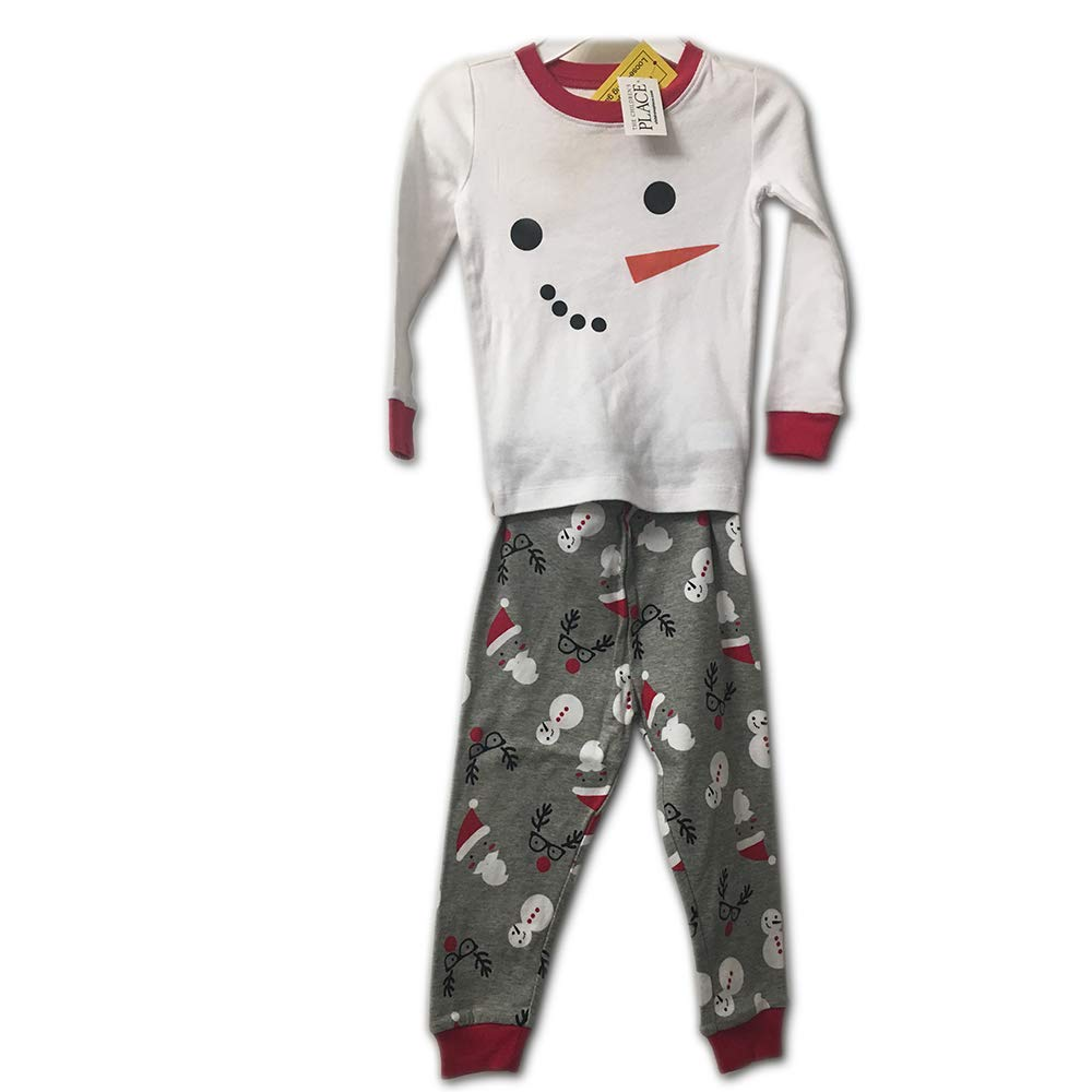 The Childrens Place Christmas Snowman Holiday Pajamas Two-Piece Set 18-24months