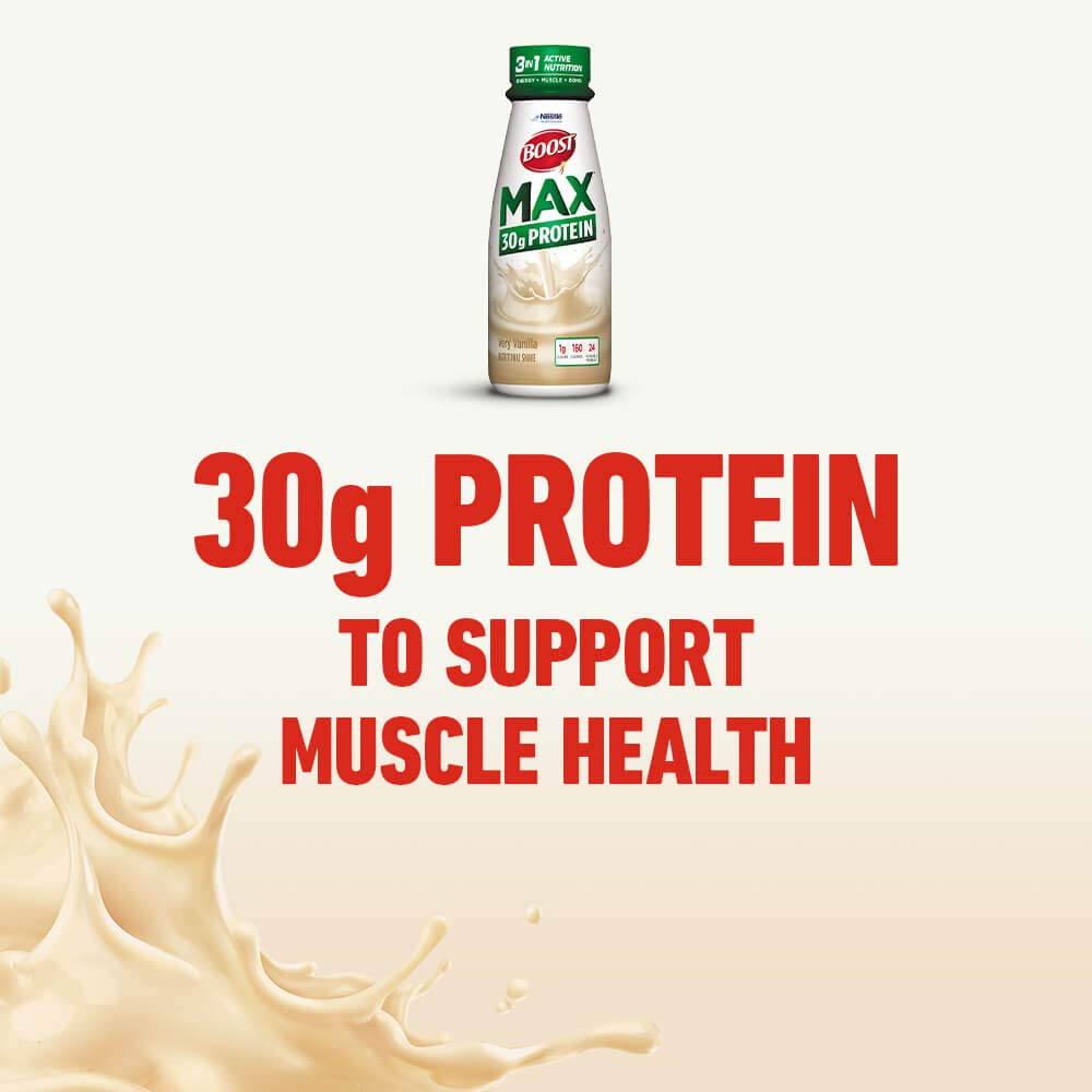 Boost Max Protein Drink, Very Vanilla, 11 fl oz bottle, 12 Pack (Packaging May Vary)