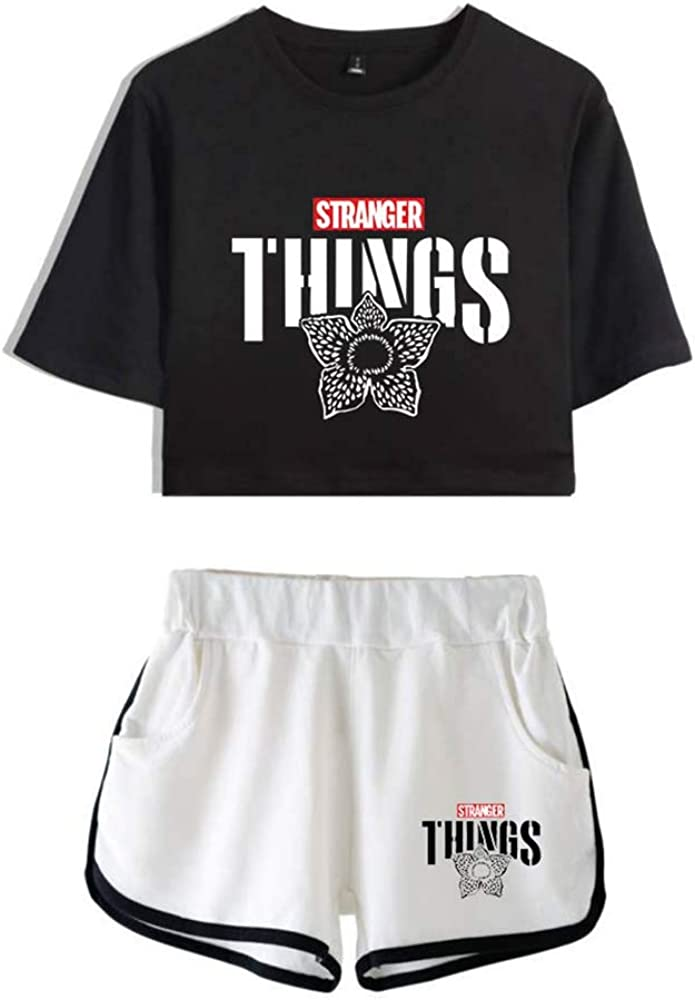 domorebest Ensemble De Shorts /À Manches Courtes Stranger Things Sportswear Loose Casual Running Running