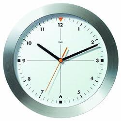 Bai Brushed Aluminum Wall Clock, Formula One White