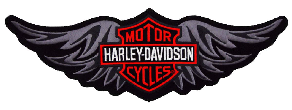 Harley Davidson Tribal Wing BAR Shield Patch (XXL) 12 INCH by Elite Patch Group
