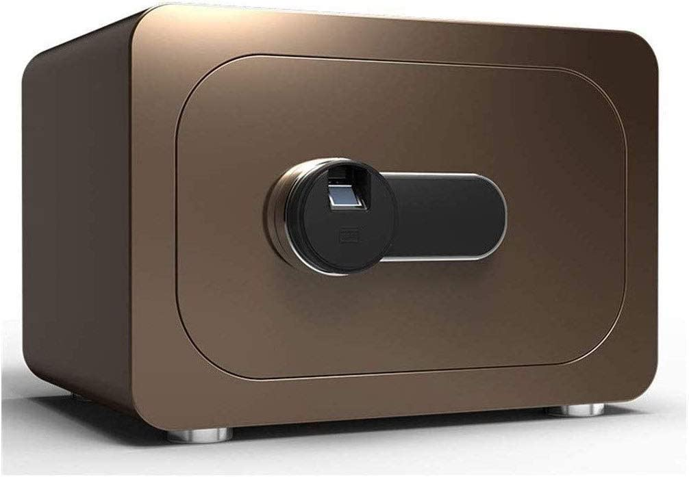 盗難防止用電子金庫は固定設置可能-40X30X28cm(茶色)