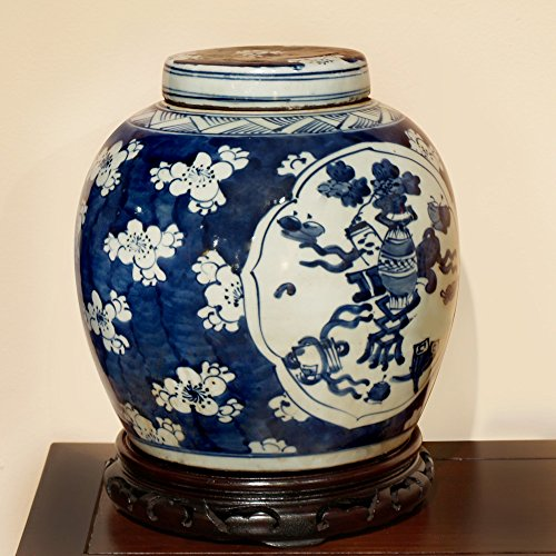 white and blue ginger jar 18 - 2