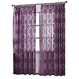 NAPEARL Window Curtain for Living Room, Set of 2 Panels (52″x96″, Purple) Review