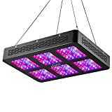 KINGBO LED Grow Light 900W Full Spectrum for Hydroponic Indoor Medicinal Plants Veg and Flower (12Bands 5W)