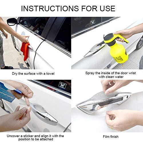 Tiakino 5pcs Car Door Handle Transparent Protective Film Door Handle Paint Protectors Scratch Film Guard