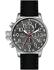 Invicta Mens Connection Quartz Stainless Steel and Leather Casual Watch, Color:Black (Model: 24736)