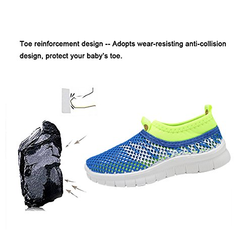 CIOR Kids Light Weight Sneakers AquaShoes Breathable Slip-On For Running Pool Beach Toddler/Little Kid,S644Blue,31 4