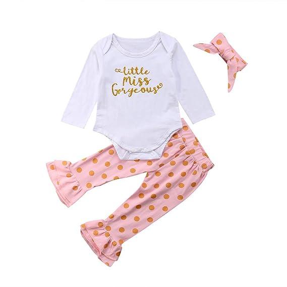 Conjuntos para Bebés Niñas Otoño Invierno 2018 Moda PAOLIAN Camisetas de  Monos + Pantalones + Diademas 2226ebee6694
