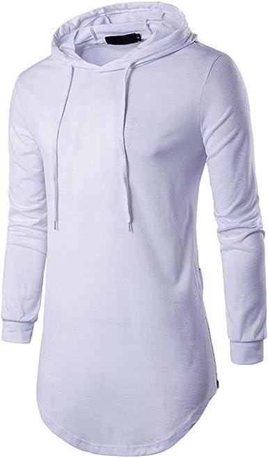 Sudadera con Capucha Camiseta Larga para Hombre Jersey De ...
