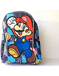 New Super Mario Black 16 Inches Large Backpack