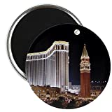 "CafePress - Venetian - Las Vegas - Magnet - 2.25"" Round Magnet, Refrigerator Magnet, Button Magnet Style"
