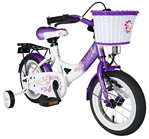 Bikestar 12 inch (30.5 cm) Kids Childrens Girls Bike Bicycle Classic - Lilac & White