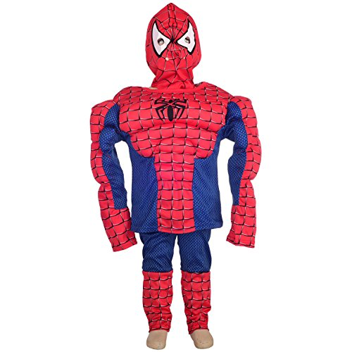 Dressy Daisy Boys' Halloween Spiderman Muscle Superhero Fancy Party Costume?Size 4-5 -