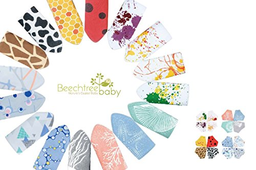 Bandana Bibs,Beechtree Baby 4 Pack Soft and Absorbent,Hypoallergenic,100% Natural Cotton Drool Bibs with Snaps for Drooling & Teething, Unisex Baby Gift Set for Boys Girls (Ocean Design Nature' Print) by Beechtree Baby (Image #9)