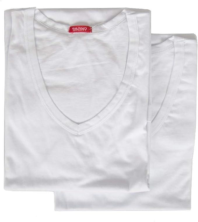 RAGNO SPORT Paquete 2 t-Shirt Camiseta Hombres algodón de Manga ...