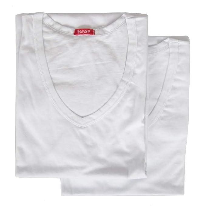 V 2 T Confezione Uomo Scollo Shirt Manica Ragno Corta Maglietta D9YWHEIe2
