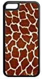 Furry Giraffe Skin- Iphone 5C plastic BLACK case - compatible with iPhone 5C only