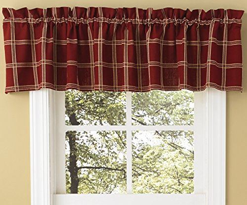 Park Designs Windsor Star Lined Plaid Valance - (Windsor Valance)