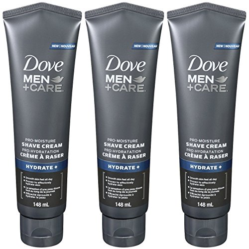 Dove Men + Care Pro Moisture Hydrate+ Shave Cream, 5 Ounce (Pack of 3)