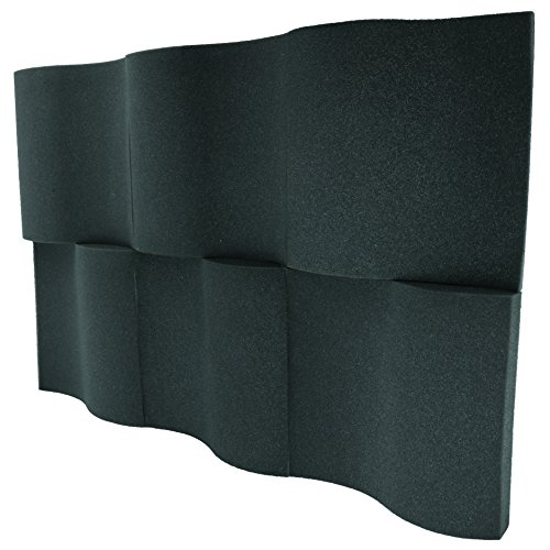 6 Pack - Decorative Acoustic Panels Studio Foam Waves 2'' X 12'' X 12'' by Foamily