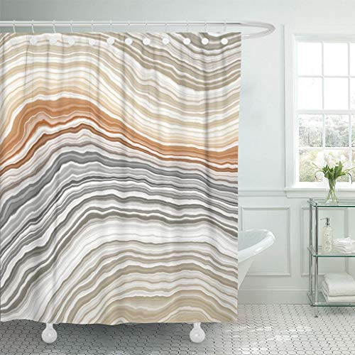 Emvency Fabric Shower Curtain