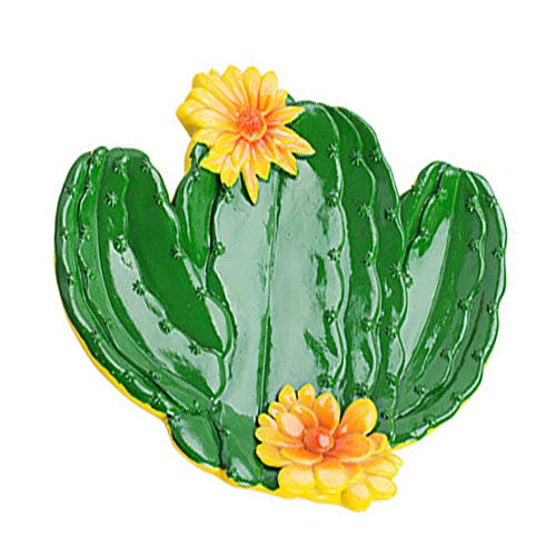 (Ouken Cactus Fruit Plate Resin Nut Dish Tabletop Food Serve Tray Snacks Holder Jewelry Display Tray)