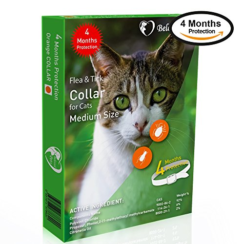 Beloved Pets Flea&Tick Collar (100% Safe and effective) - Flea Control Collar for Cats and kittens - Unique formula for quick and long lasting protection, Control & Enhanced Defence - Kills Flea,Ticks