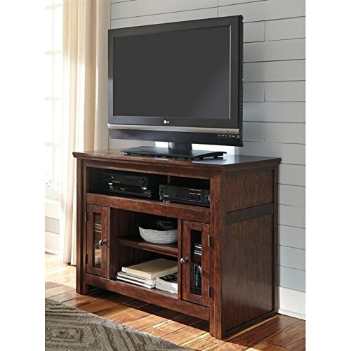 Ashley Furniture Signature Design - Harpan TV Stand - 42 in - Traditional Style - Brown by Signature Design by Ashley
