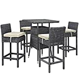 Modern Contemporary Urban Outdoor Patio Balcony Five PC (Small Image)