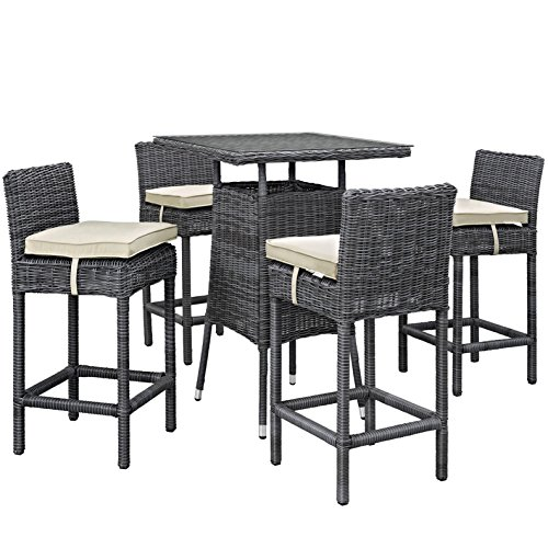 Modern Contemporary Urban Outdoor Patio Balcony Five PC (Large Image)