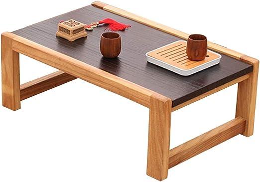 Salón Mesas Muebles Mesa de madera maciza japonesa Mesita pequeña ...