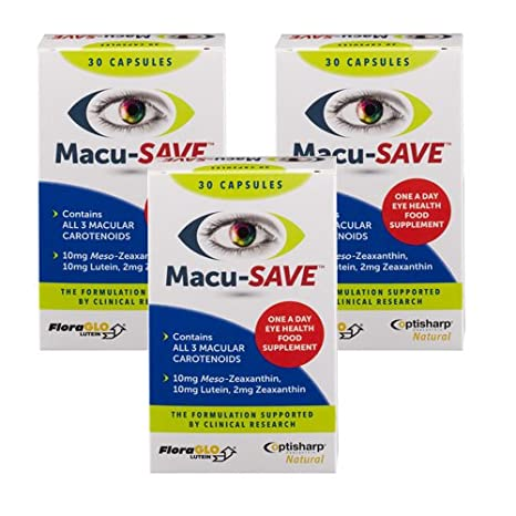 Macu-SAVE Food Supplement for Macular Health with Meso-Zeaxanthin/Lutein  and Zeaxanthin - 90 Capsules (3 x Pack of 30 Capsules): Amazon.co.uk:  Health ...
