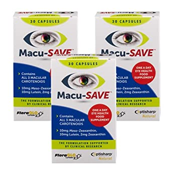Macu-SAVE Food Supplement for Macular Health with Meso-Zeaxanthin/Lutein  and Zeaxanthin