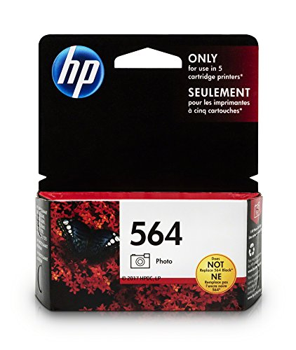 HP 564 Photo Black Ink Cartridge (CB317WN) for HP Deskjet 3520 3521 3522 3526 Officejet 4610 4620 4622 Photosmart 5510 5514 5515 5520 5525 6510 6512 6515 6520 6525 7510 7515 7520 7525 B8550 C6340… (Ink Black Photo Accessories)