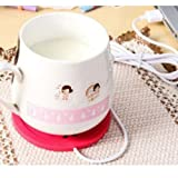 5V USB Beautiful Design 5V USB Silicone Heat Warmer Heater Milk Tea Coffee Mug Hot Drinks Beverage Cup Red Color
