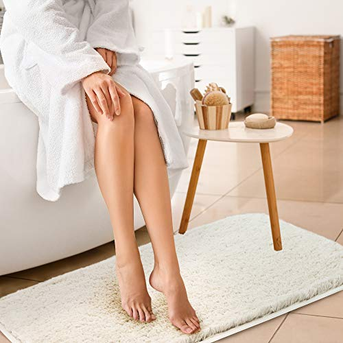 ALAYRAC Bathroom Rugs Mat 20x32 Non-Slip Ultra Soft Bath Rugs Water Absorbent and Shaggy Floor Mat for Tub, Shower, Bathroom, Machine Wash Dry